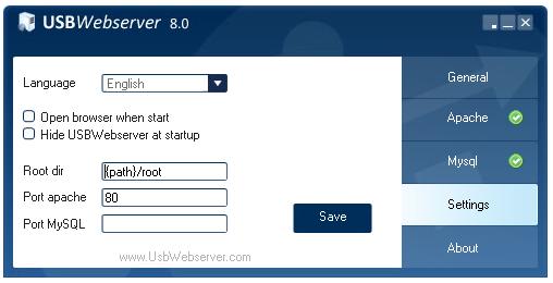 Setting USB Web Server